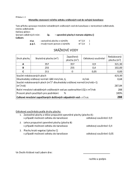 Srážkové vody - ukázka výpočtu