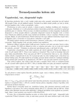 Termodynamika kolem nás