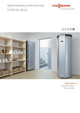 Tepelné čerpadlo pro ohřev pitné vody VITOCAL 161-A