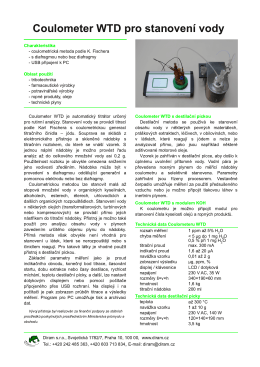 Coulometer WTD pro stanovení vody