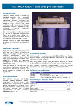 SCI-AQUA BASIC – čistá voda pro laboratoře