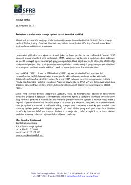 TZ: Jmenování nového ředitele SFRB
