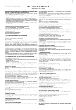 LACTULOSA BIOMEDICA - Biomedica, spol. s ro