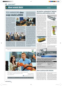 Článek v časopisu Technický týdeník č. 3 / 2015
