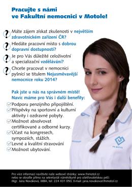 Pracujte s námi ve Fakultní nemocnici v Motole!