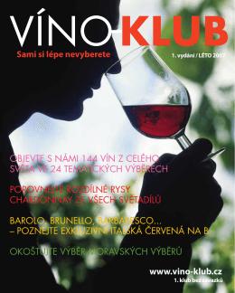 www.vino-klub.cz OBJEVTE S NÁMI 144 VÍN Z CELÉHO - Víno-klub