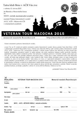 Veteran Tour Macocha 2015