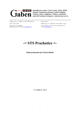 Popis programu pro řízení skladu