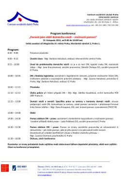 Program - Centrum sociálních služeb Praha