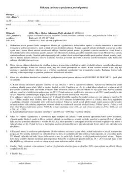smlouva - JUDr. MgA. Michal Šalomoun