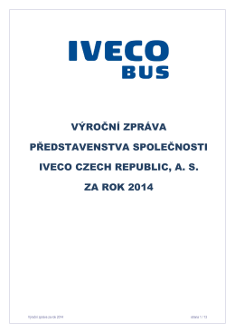 Výroční zpráva představenstva