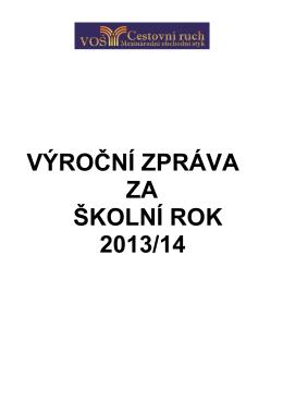 výroční zpráva 2013-14