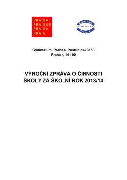 Výroční zpráva 2013-2014