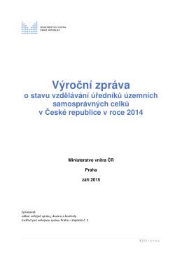 Výroční zpráva o stavu vzdělávání úředníků územních