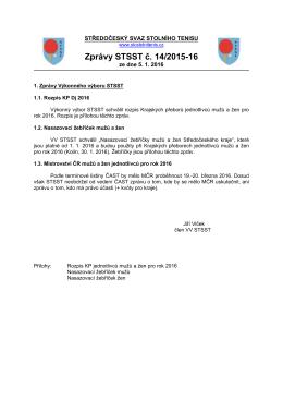 Zprávy STSST č. 14/2015-16 - Středočeský svaz stolního tenisu