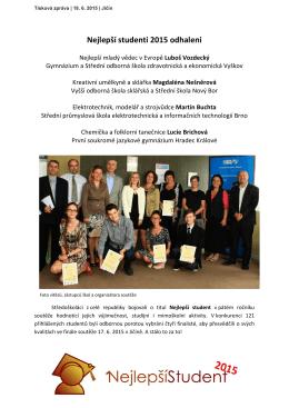 Nejlepší studenti 2015 odhaleni - Smíchovská střední průmyslová