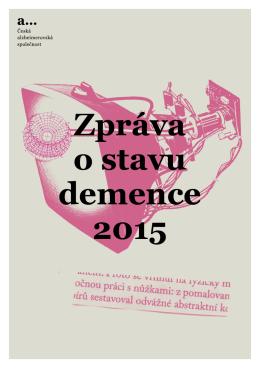 Zpráva o stavu demence 2015