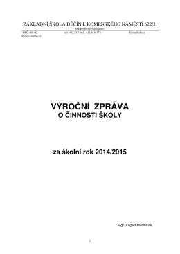 Výroční zpráva 2014/15