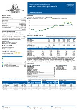 Základní údaje o fondu