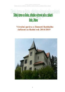 Výroční zpráva za školní rok 2014-2015