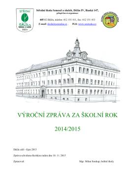 Výroční zpráva 2014/2015 - Střední škola řemesel a služeb Děčín