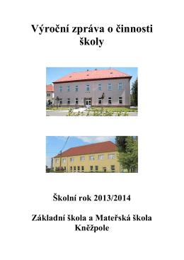 Výroční zpráva za rok 2013-2014