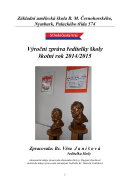 Výroční zpráva ředitelky školy - školní rok 2014/2015