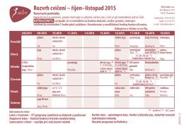 Rozvrh cvičení – říjen–listopad 2015