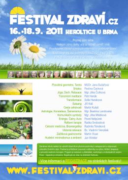 Leták Festival zdraví