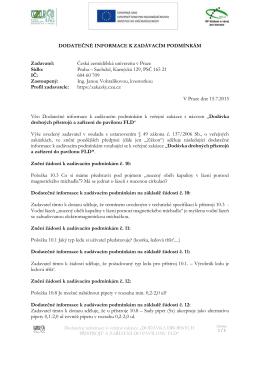15 07 15 dodatečné informace č. VI 159