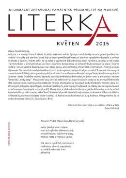 květen 2015 - Památník písemnictví na Moravě