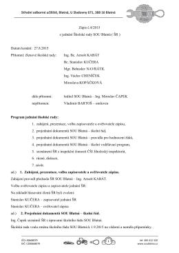Zápis z jednání školské rady 27.8.2015