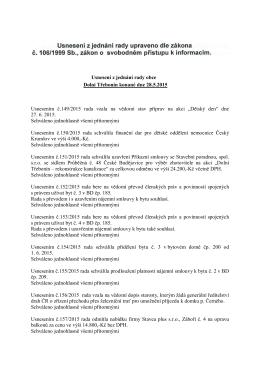 Usnesení z jednání rady obce Dolní Třebonín konané dne 28. 5. 2015