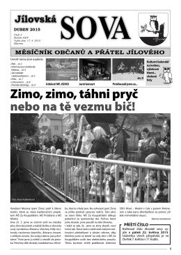 Jílovská sova - duben 2015