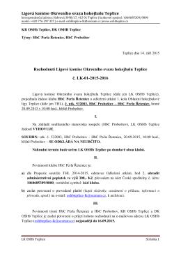 LK-01 - OSHb Teplice