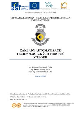Základy automatizace technologických procesů