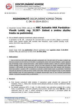 Vlasák Luká - Hokejbal.cz