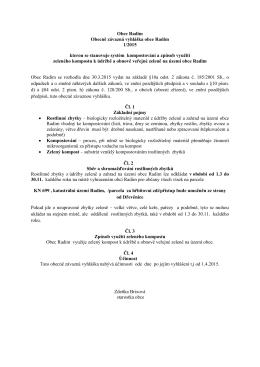 Vyhláška o ukládání rostlinných zbytků