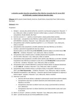 Zápis a usnesení č. 2 ze dne 26.června 2015