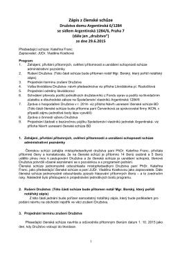 Zápis ze schůze BD 29.6.2015