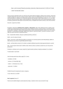 Zápis z valné hromady 9. 6. 2015 - Horolezecký oddíl TJ Lokomotiva