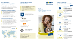 Leták Sbaleno - ERV Evropská pojišťovna
