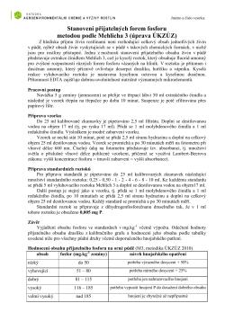 Stanovení přijatelných forem fosforu a draslíku metodou podle