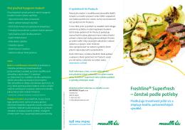 Freshline® Superfresh – čerstvé podle potřeby