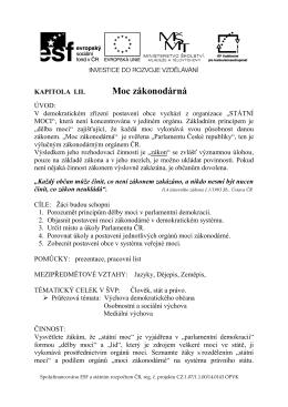 Moc zákonodárná II.