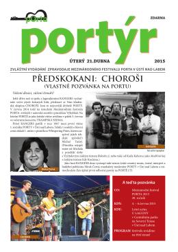 předskokani: choroši - Mezinárodního festival PORTA v Ústí nad