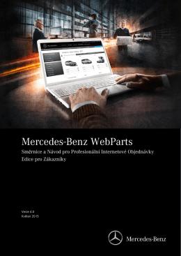 Stáhnout návod Mercedes-Benz WebParts