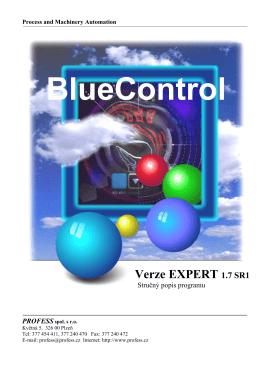 BlueControl Verze EXPERT 1.7 SR1