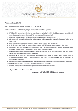 Rady a pokyny pro návštěvníky