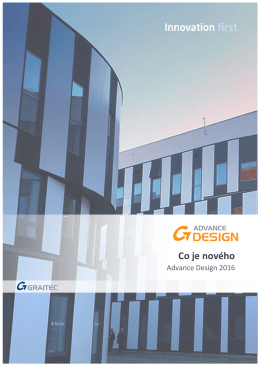Co je nového v Advance Design 2016